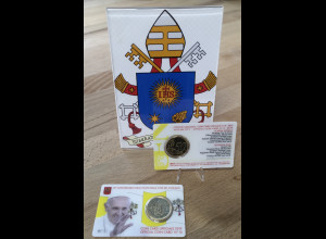 Vatikan 2019 Papst Franziskus 50 Cent Kursmünze 2019 stempelglanz im Blister