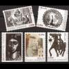 Griechenland 2011 Mi.-Nr. 2594-98 **, Griechische Graveure des 20. Jahrhunderts