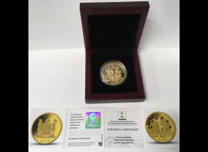 1 Unze Gold Fidschi 200 Dollar Jahrgang 2013 mit Etui und Zertifikat FIFA BRAZIL