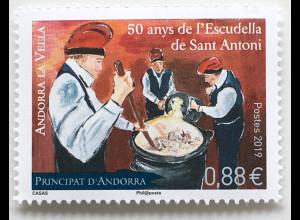 Andorra französisch 2019 Nr. 846 Escudella de Sant Antoni Feste und Feiern