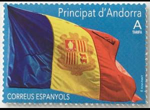 Andorra spanisch 2019 Nr. 475 Flagge A Französische Tricolore