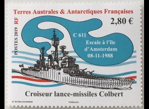 Franz. Antarktis TAAF 2019 Nr. 1034 Schiffe Frachter Schiffverkehr Transport