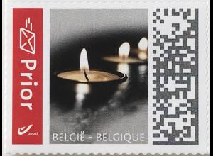Belgien 2019 Neuheit Freimarken Kerzen Trauermarke