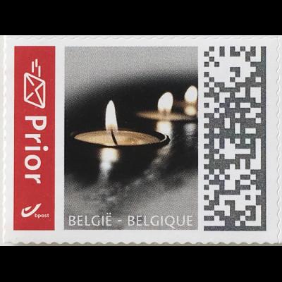Belgien 2019 Nr. 4875 Freimarken Kerzen Trauermarke