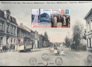 Belgien 2019 Neuheit 100 Jahre Neutrales Terrotorium Moresnet Altenberg