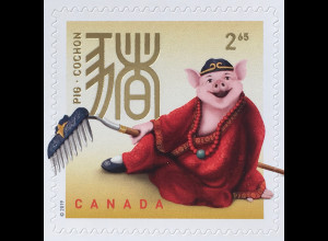 Kanada Canada 2019 Neuheit Jahr des Schweins Lunarserie Chin. Tierkreiszeichen