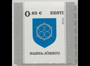 Estland EESTI 2019 Nr. 944 Freimarken Wappen Narva-Joesuu Heraldik