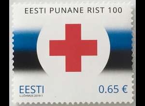 Estland EESTI 2019 Nr. 943 Humanität Rotes Kreuz Flagge Red Cross