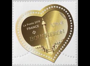 Frankreich France 2018 Neuheit Herzen Boucheron Briefmarke Herzform Valentinstag