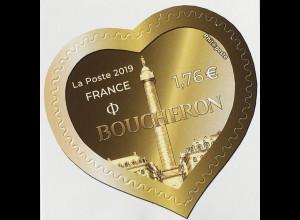 Frankreich France 2019 Nr. 7241 Herz Boucheron Briefmarke Herzform Valentinstag