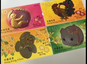 Hongkong 2019 Neuheit Lunarserie Chin. Horoskope Jahr des Affen Schwein Hahn