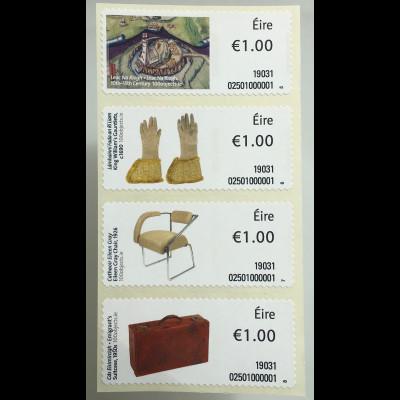 Irland 2019 ATM 113-116 Freimarken Objekte Teil Leac Na Riogh Nutzgegenstände