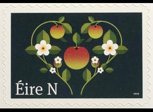 Irland 2019 Neuheit Freimarken Hochzeit Liebe aus Markenheft selbstklebend