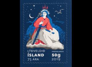 Island Iceland 2019 Neuheit 75. Jahrestag Republik Island