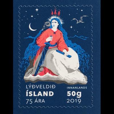 Island Iceland 2019 Nr. 1574 75. Jahrestag Republik Island