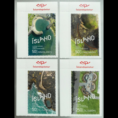 Island Iceland 2019 Nr. 1575-78 Zeitgenössisches Design Landschaftsarchitektur