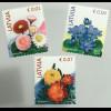 Lettland Latvia 2019 Freimarke Blumen Neudruck Astern Belli und Krokus Flora