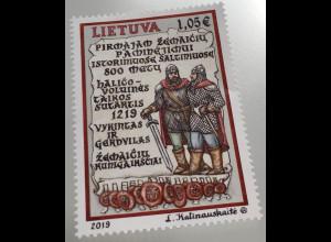 Litauen Lithuania 2019 Nr. 1306 800 Jahre erste Währung von Samogitern
