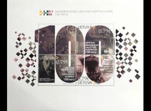 Litauen Lithuania 2019 Block 62 100 Jahre Modernes Litauen Moderne Kunst