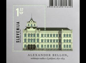 Slowenien Slovenia 2019 Block 114 Oberrealschule Ljubljana Architektur Uni