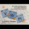 Spanien España 2019 Nr. 5318 Jahr der Periodentabelle der chemischen Elemente