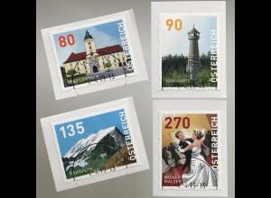 Österreich 2019 Nr. 17-20 Dispenser Marken Wiener Walzer Kanisfluh Ringwarte