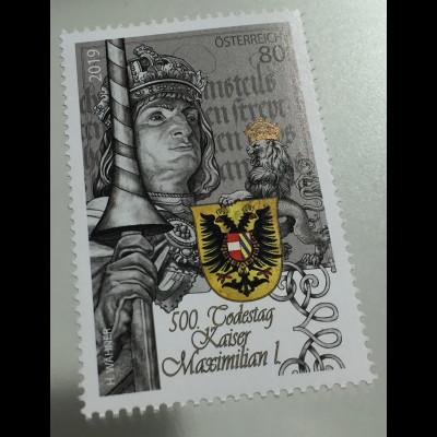Österreich 2019 Nr. 3457 500. Todestag Kaiser Maximilian I. Der letzte Ritter
