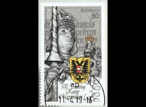 Österreich 2019 Neuheit 500. Todestag Kaiser Maximilian I. Der letzte Ritter