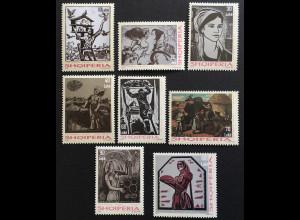 Albanien 2018 Nr. 3597-3604 Albanische Kunst Grafiken Moderne Kunst Gemälde