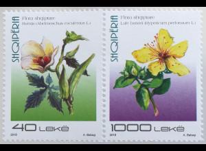 Albanien 2018 Neuheit Flora Blumen Johanniskraut und Bamja