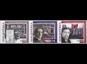 Albanien 2018 Nr. 3585-87 Historische Ereignisse Politik Geschichte