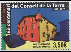 Andorra spanisch 2019 Nr. 477 600 J. Consell de la Terra Jubiläum