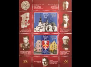Estland EESTI 2019 Block 46 700 Jahre Talliner Domschule Bildung und Kultur