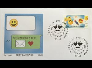Bund BRD Ersttagsbrief FDC Nr 3458 4. April 2019 Ich scheib mal wieder Emoji