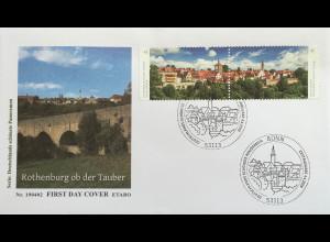 Bund BRD Ersttagsbrief FDC Nr 3454-55 4. April 2019 Altstadt von Rothenburg