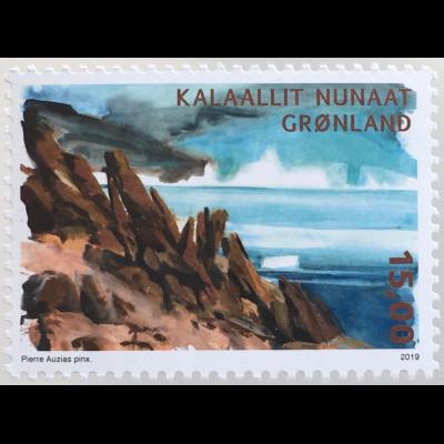 Grönland 2019 Nr. 812 Arktische Wüste Natur Landschaften Vegetation Gebirge