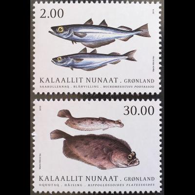 Grönland 2019 Michel Nr. 817-18 Fische Meeresbewohner Fauna Tiere