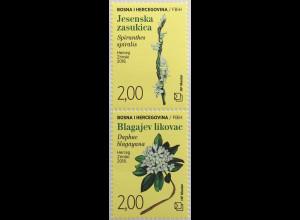 Bosnien Herzegowina Kroatische Post Mostar 2018 Neuheit Blumen Flora Heilpflanze