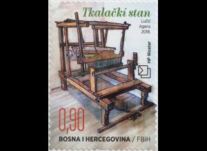Bosnien Herzegowina Kroatische Post Mostar 2018 Neuheit Ethnologische Schätze