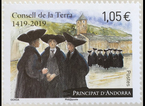 Andorra französisch 2019 Neuheit 600 Jahre Consell de la Terra Politk Soziales
