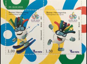 Bosnien Herzegowina 2019 Block 65 Eyof Olympisches Jugendfestival Sport Jugend