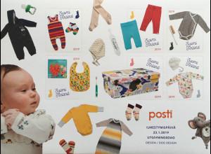 Finnland Finland 2019 Block 99 Mutterschaftspaket Geburt Baby Kindersachen
