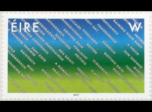 Irland 2019 Neuheit Eine Briefmarke für Irland Niederschläge