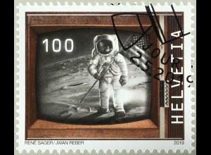 Schweiz 2019 Nr. 2602 50 Jahre bemannte Mondlandung Neil Armstrong 21. Juli 1969