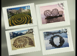 Schweiz 2019 Nr. 2609-12 Sondermarke Naturkunst Globetrotter Ivo Moosberger