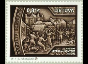 Litauen Lithuania 2019 Nr. 1307 Kämpfe der Unabhängigkeit Litauens