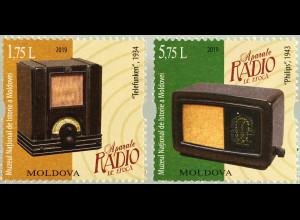 Moldawien Moldova 2019 Neuheit Vintage Radios Historische Radioempfänger