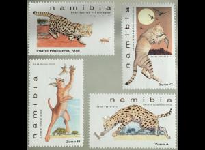 Namibia 2018 Nr. 1593-96 Klein Katzen von Namibia Ginsterkatzen Schwarzfußkatze