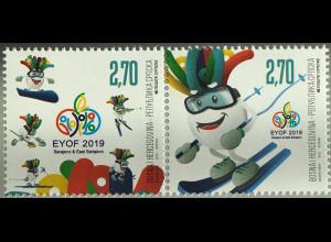 Bosnien Herzegowina Serbische Republik 2019 Neuheit Sport EYOF Jugendolympiade