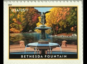 USA Amerika 2019 Michel Nr. 5564 Eilpostmarke Bethesda-Brunnen im Central-Park